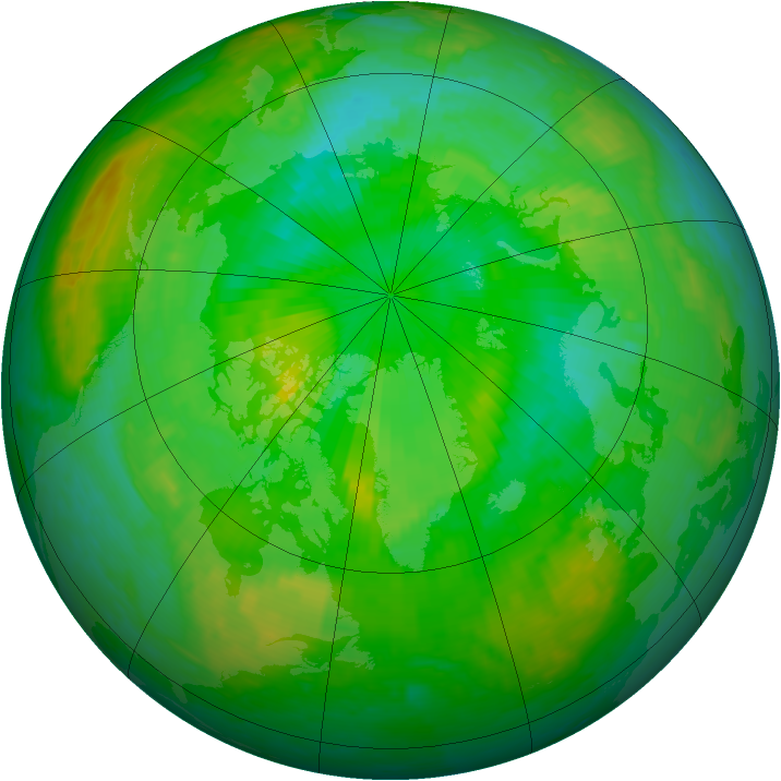 Arctic ozone map for 19 July 2003