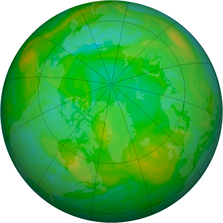 Arctic ozone map for 26 July 2003