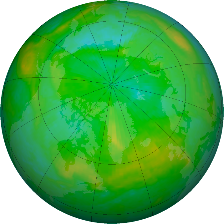 Arctic ozone map for 27 July 2003