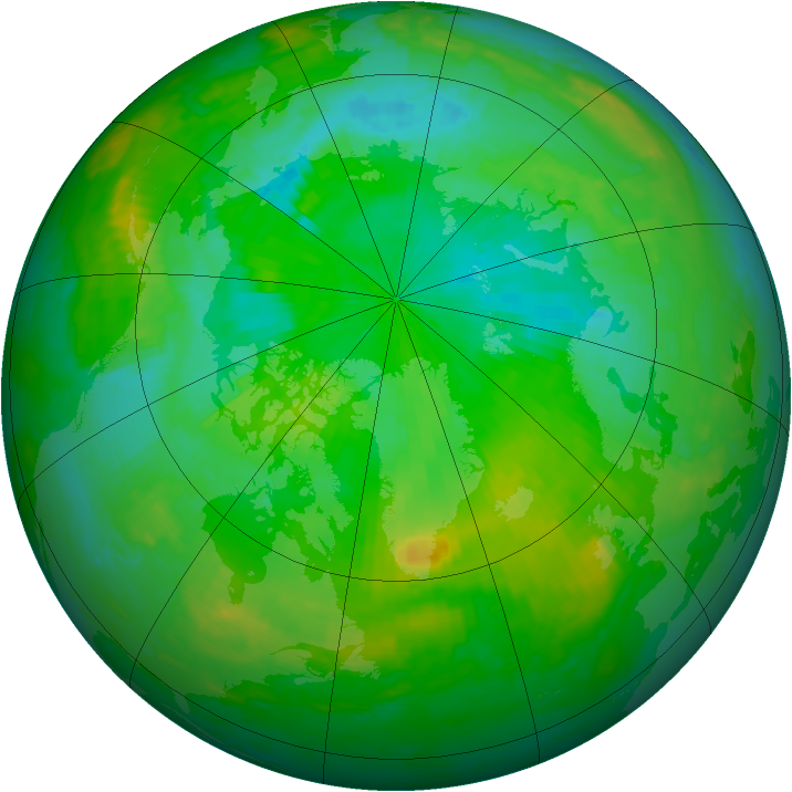 Arctic ozone map for 29 July 2003