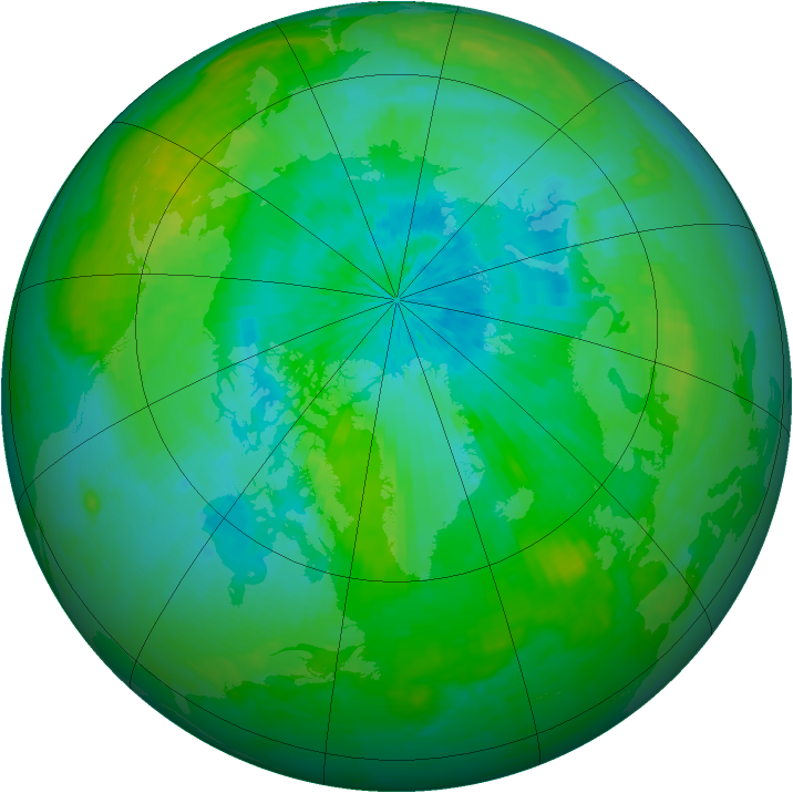 Arctic ozone map for 17 August 2003