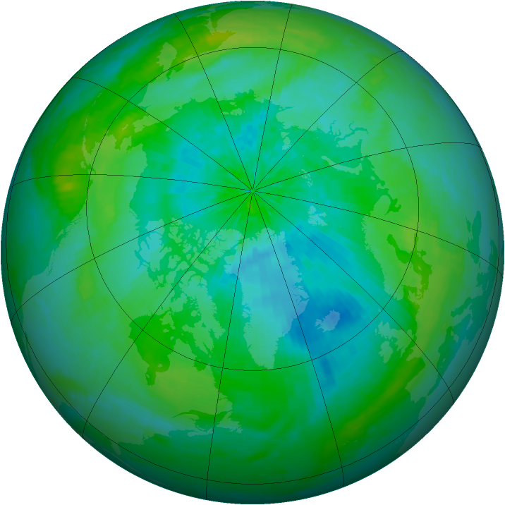 Arctic ozone map for 01 September 2003