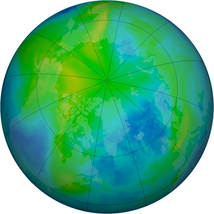 Arctic ozone map for 23 October 2003