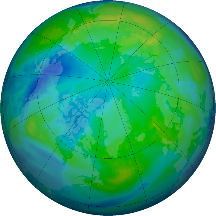 Arctic ozone map for 03 November 2003