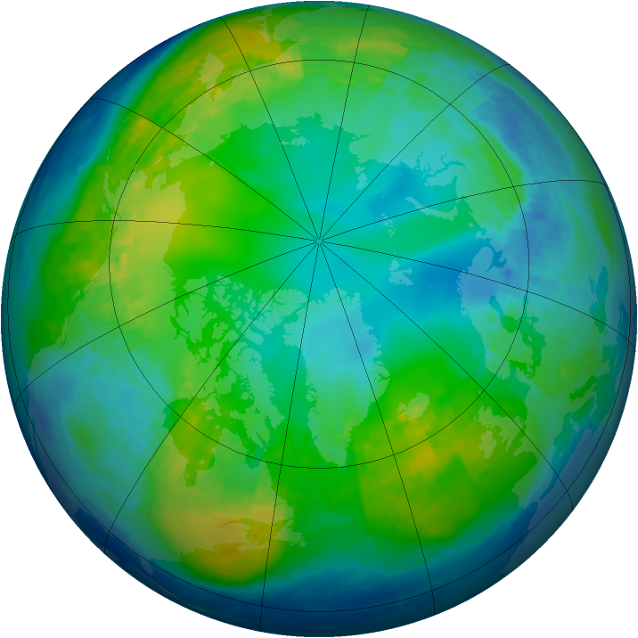 Arctic ozone map for 14 November 2003
