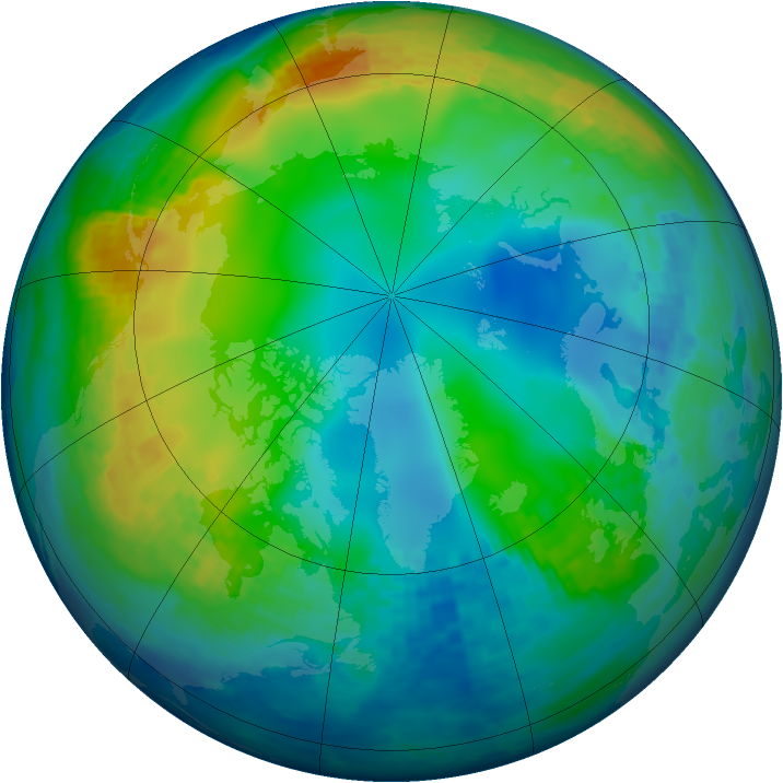 Arctic ozone map for 27 November 2003