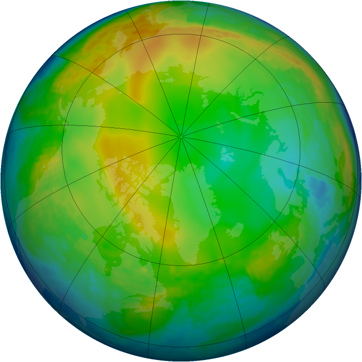 Arctic ozone map for 27 December 2003
