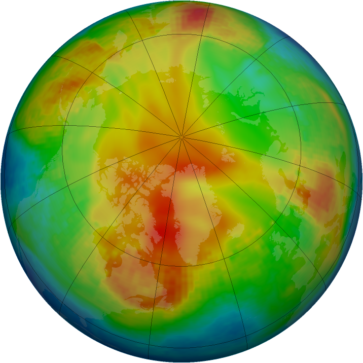 Arctic ozone map for 21 January 2004