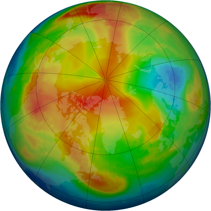 Arctic ozone map for 26 January 2004