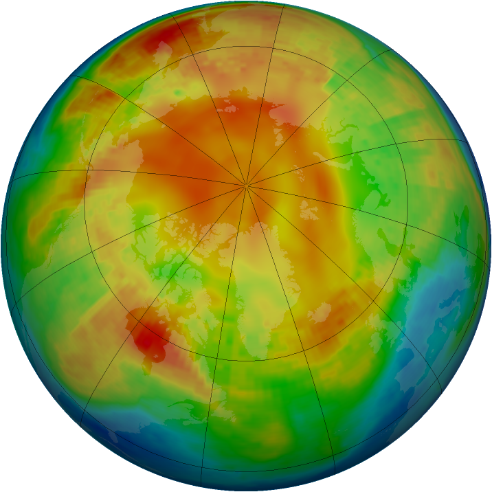 Arctic ozone map for 06 February 2004