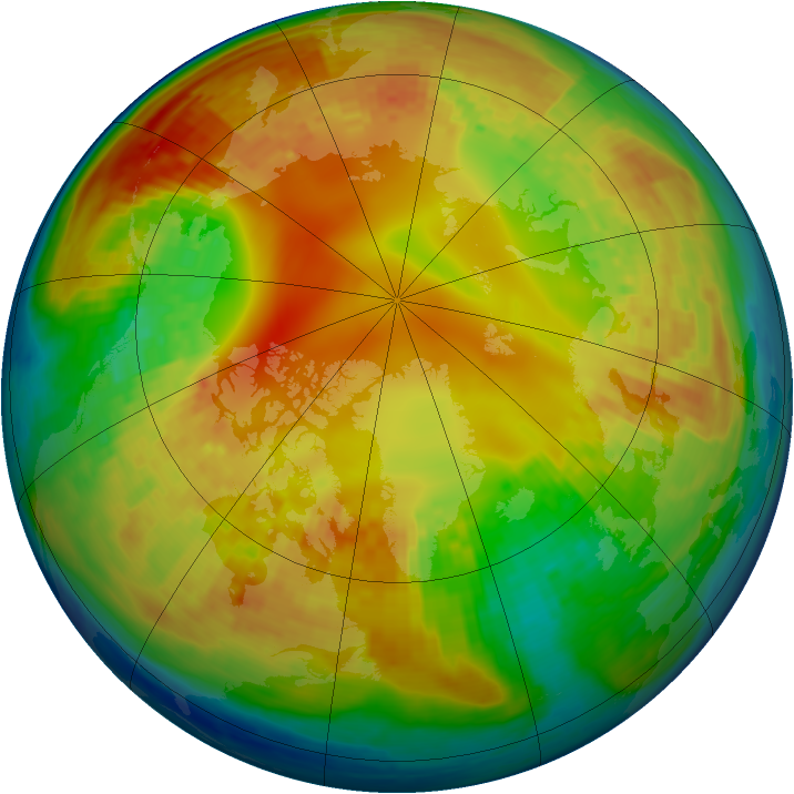 Arctic ozone map for 10 February 2004