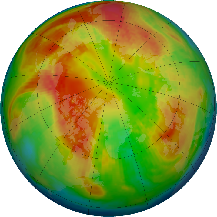 Arctic ozone map for 26 February 2004