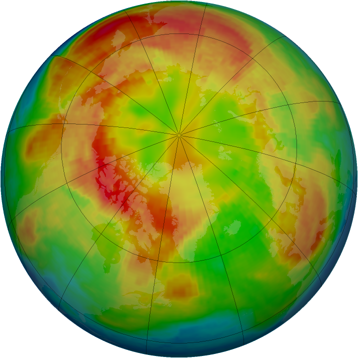 Arctic ozone map for 28 February 2004