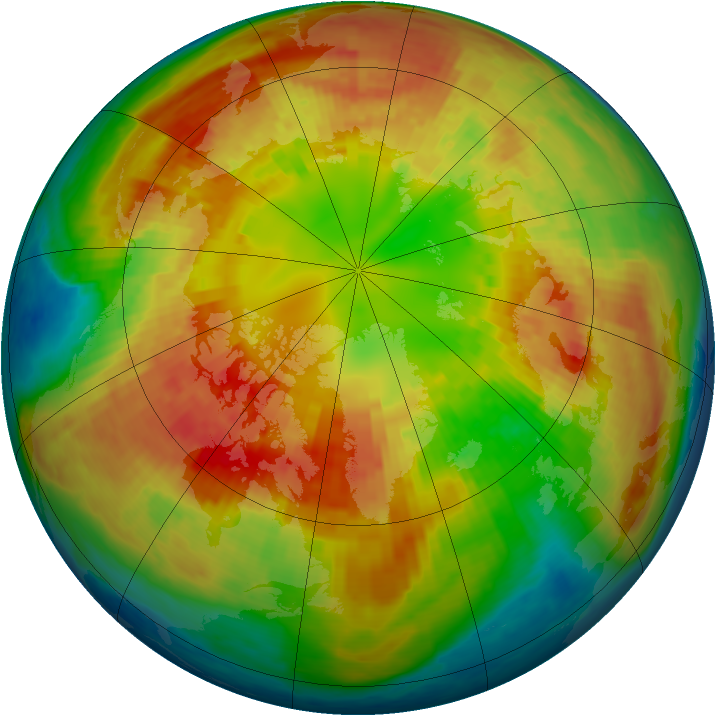 Arctic ozone map for 02 March 2004
