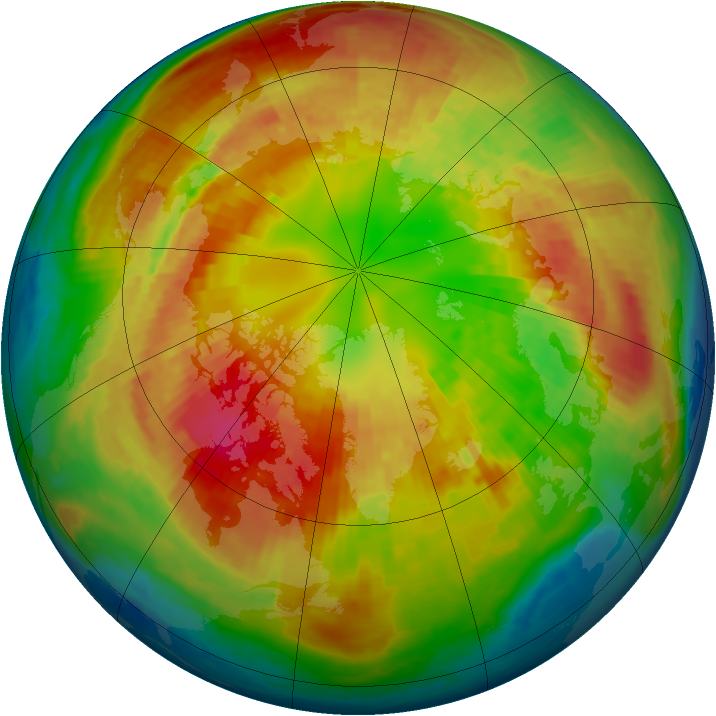 Arctic ozone map for 04 March 2004