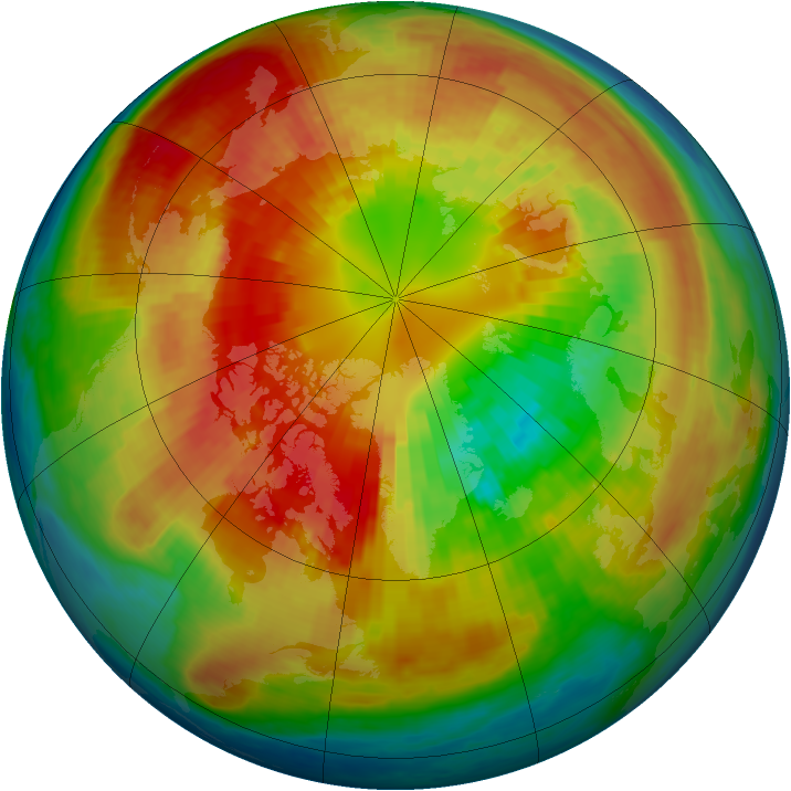 Arctic ozone map for 10 March 2004