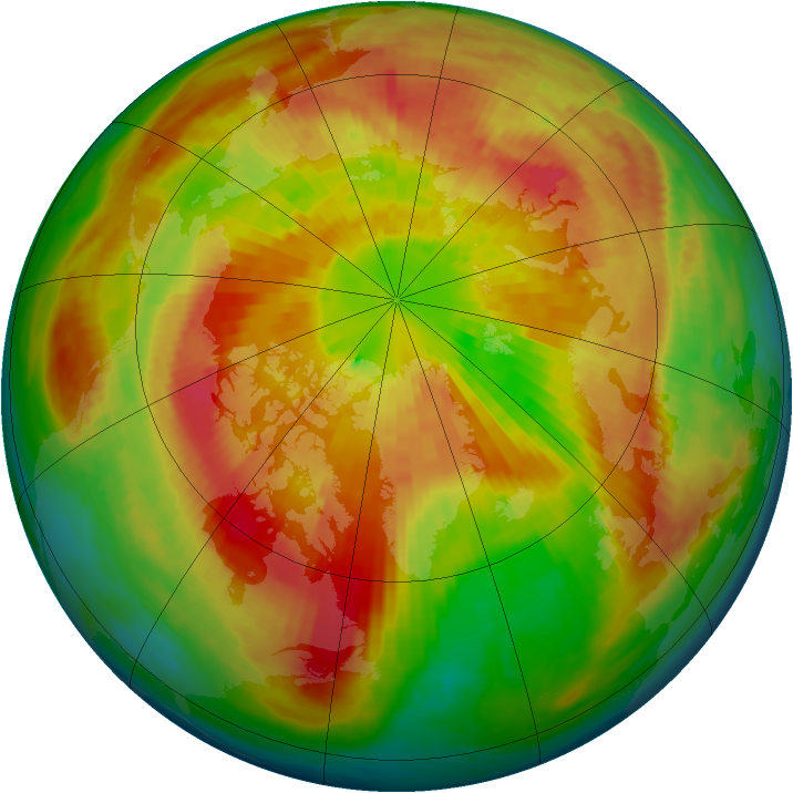Arctic ozone map for 24 March 2004