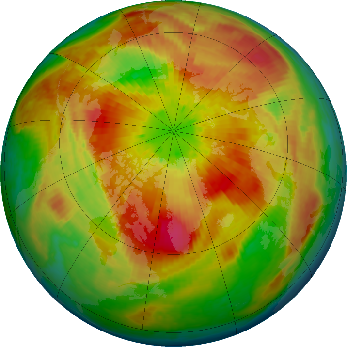 Arctic ozone map for 27 March 2004