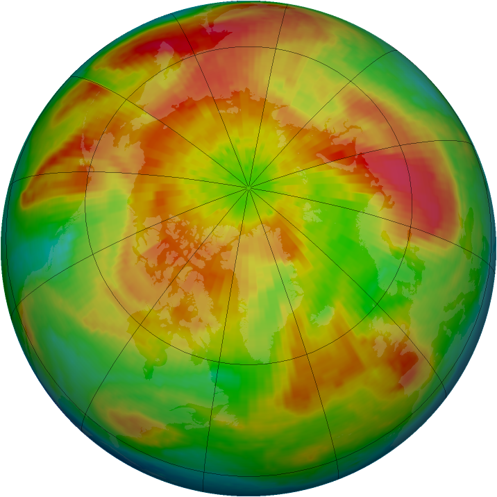 Arctic ozone map for 02 April 2004