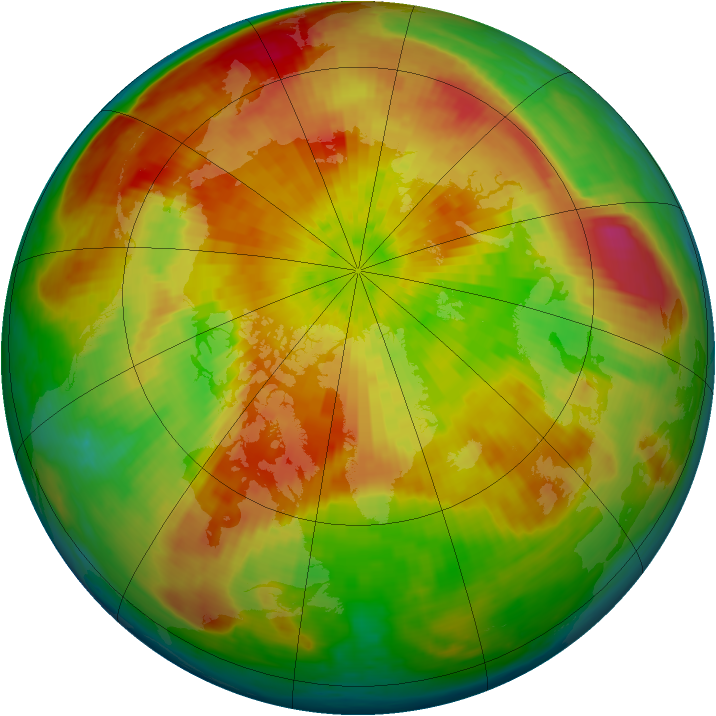 Arctic ozone map for 04 April 2004