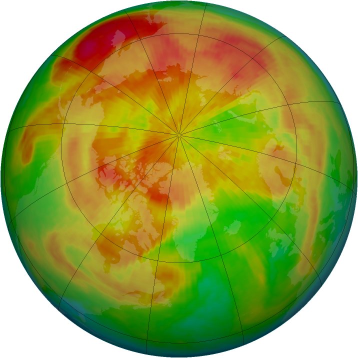Arctic ozone map for 11 April 2004