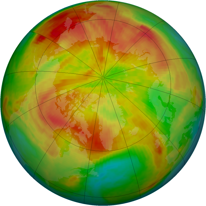 Arctic ozone map for 16 April 2004