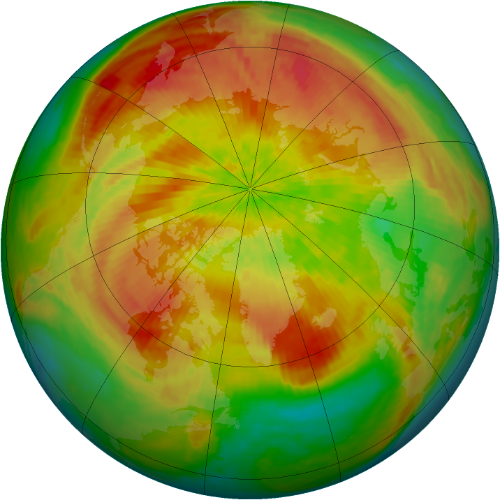 Arctic ozone map for 17 April 2004