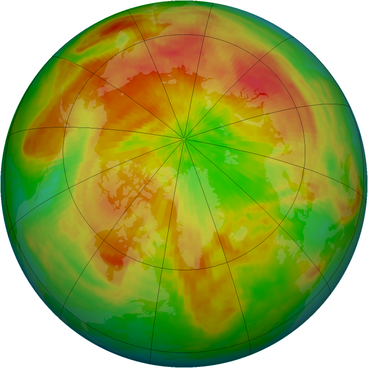 Arctic ozone map for 22 April 2004