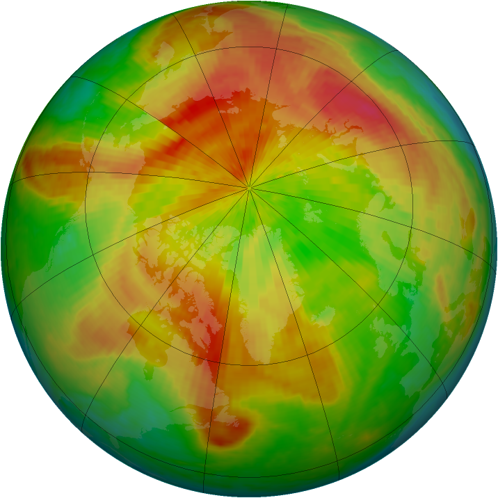 Arctic ozone map for 25 April 2004