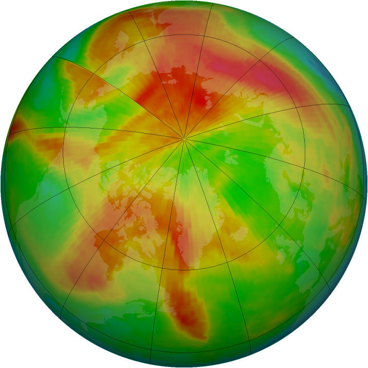 Arctic ozone map for 26 April 2004