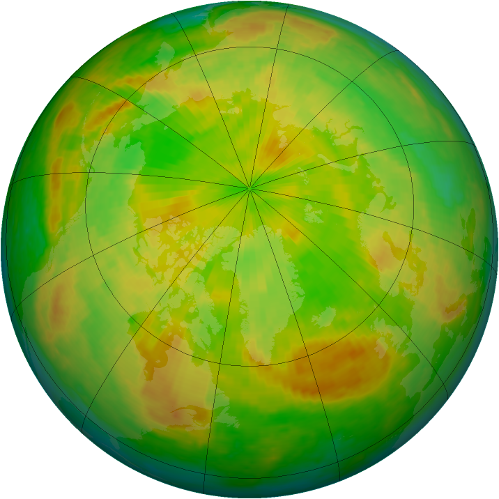 Arctic ozone map for 29 May 2004