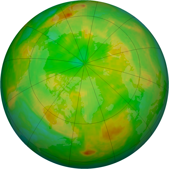 Arctic ozone map for 09 June 2004