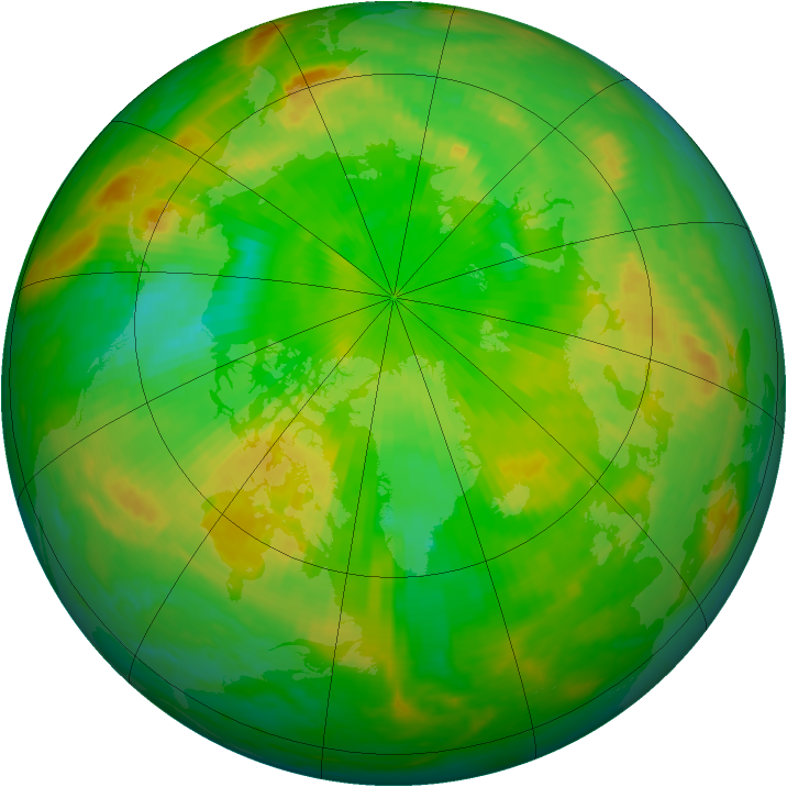 Arctic ozone map for 17 June 2004