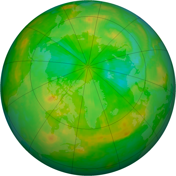 Arctic ozone map for 01 July 2004