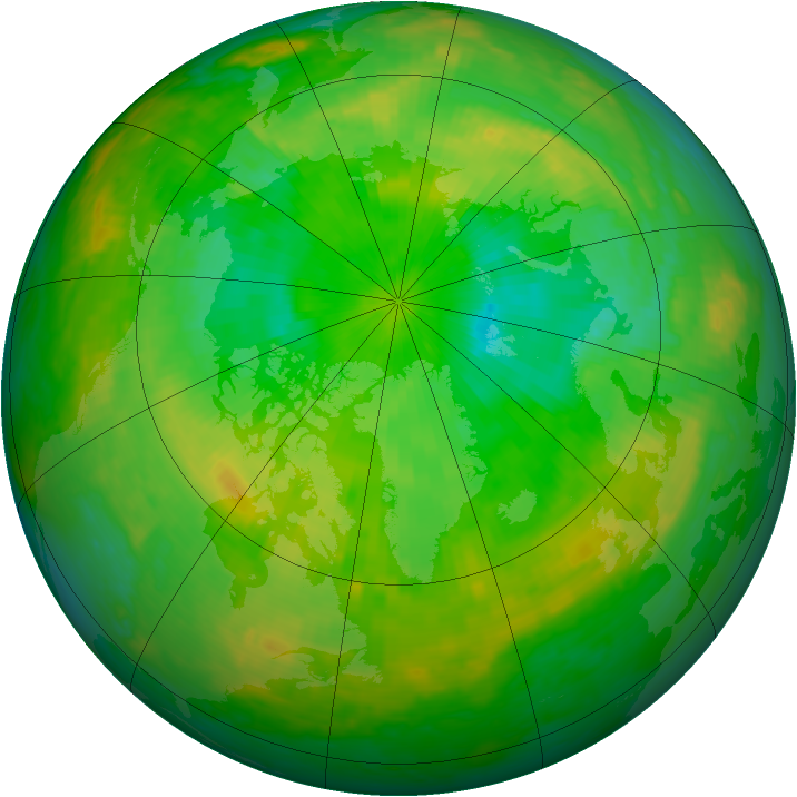 Arctic ozone map for 02 July 2004