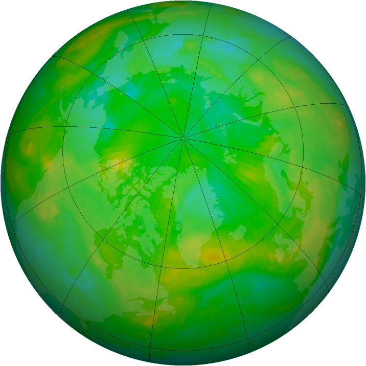 Arctic ozone map for 11 July 2004