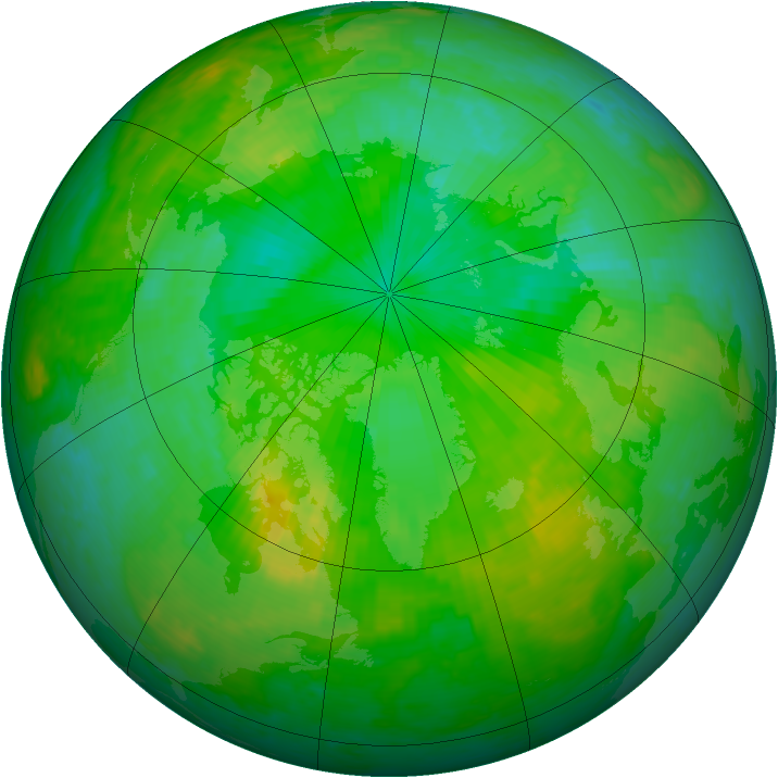 Arctic ozone map for 17 July 2004