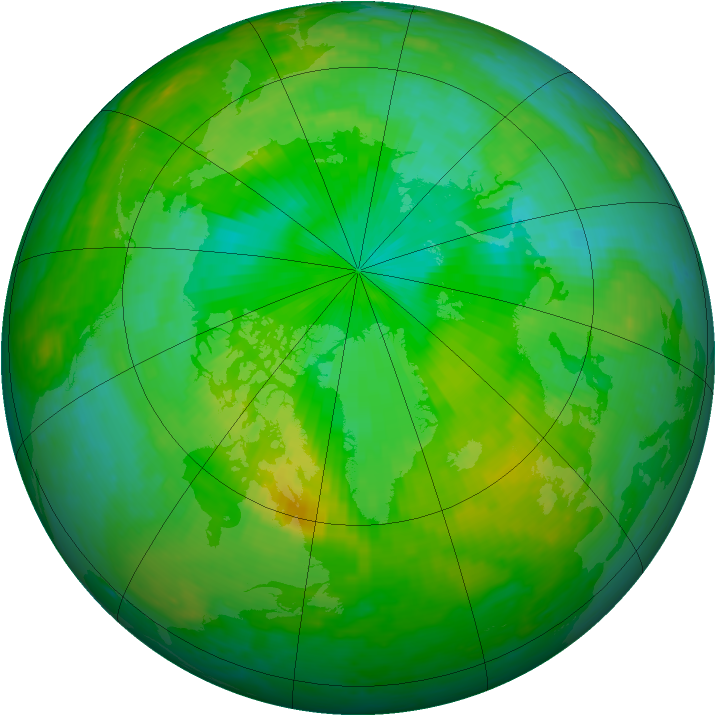 Arctic ozone map for 18 July 2004