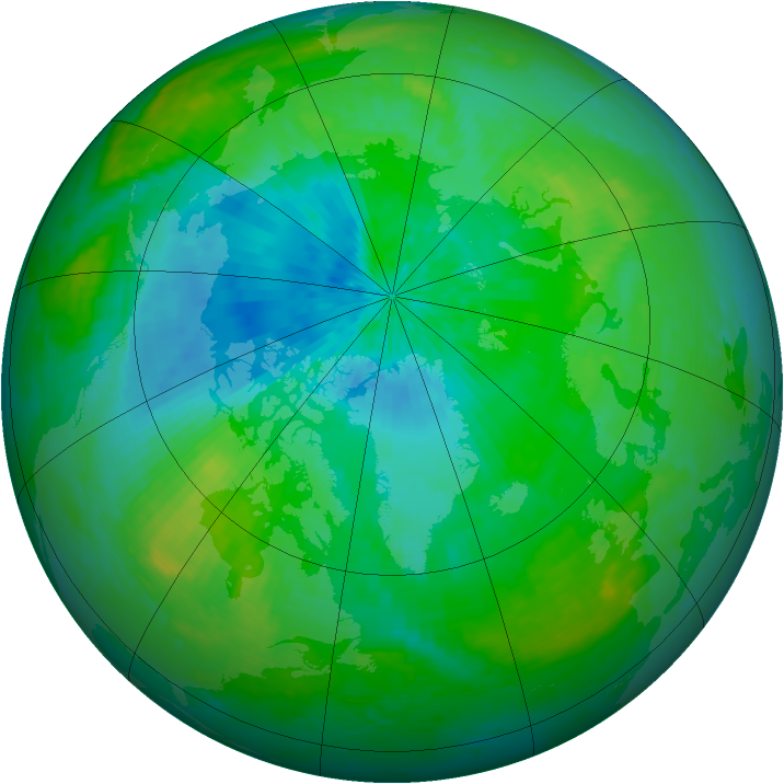 Arctic ozone map for 18 August 2004
