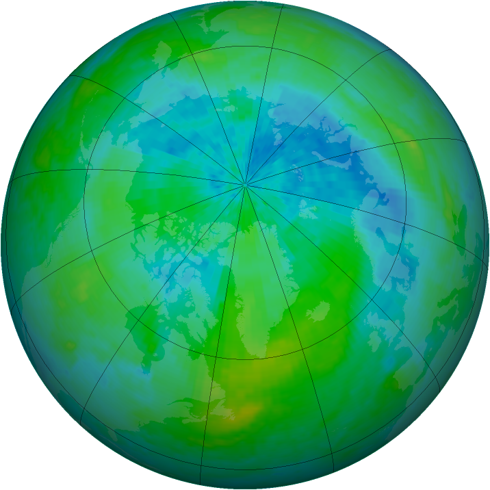 Arctic ozone map for 05 September 2004