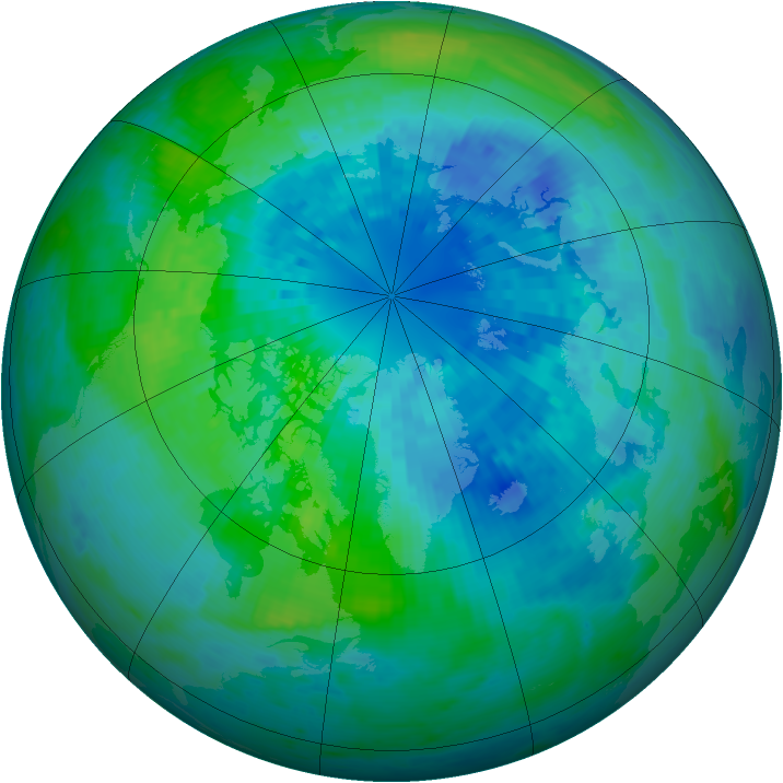Arctic ozone map for 28 September 2004
