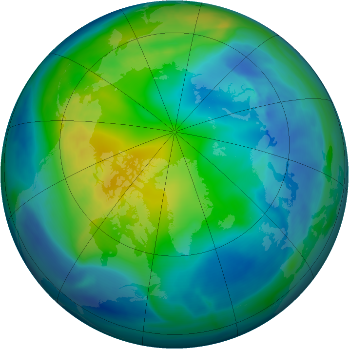 Arctic ozone map for 04 November 2004