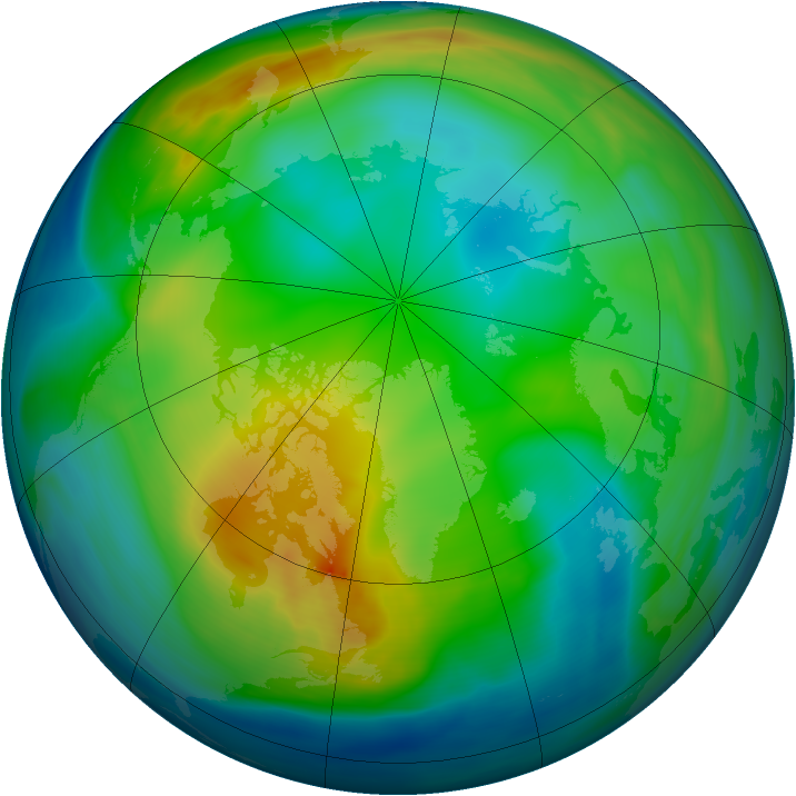 Arctic ozone map for 04 December 2004
