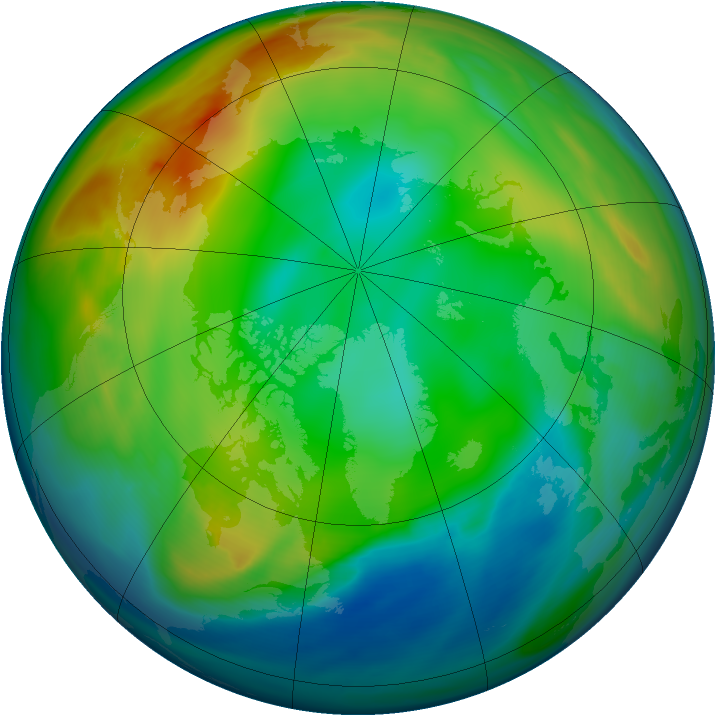 Arctic ozone map for 14 December 2004