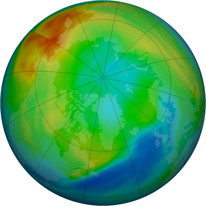 Arctic ozone map for 15 December 2004
