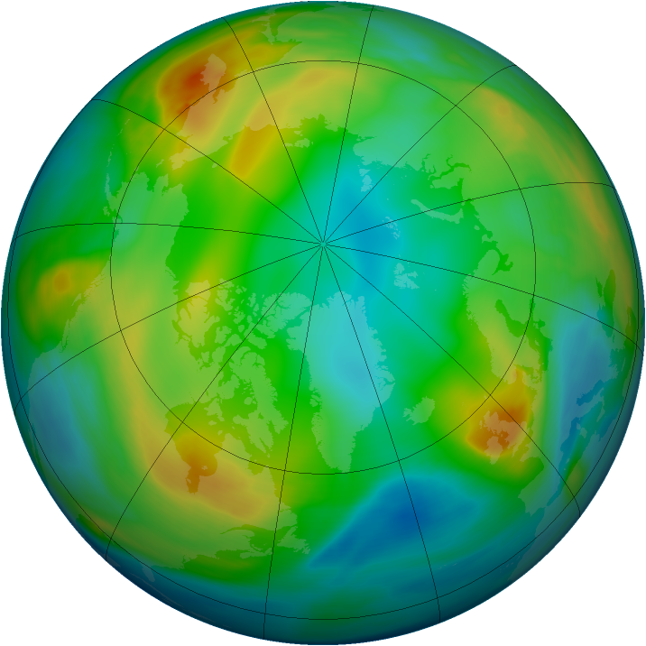 Arctic ozone map for 25 December 2004
