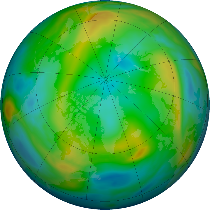 Arctic ozone map for 27 December 2004