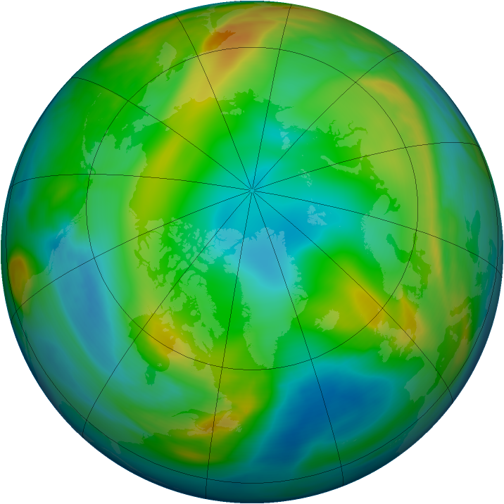 Arctic ozone map for 28 December 2004