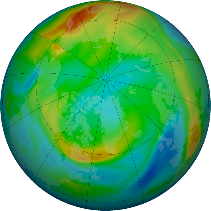 Arctic ozone map for 30 December 2004
