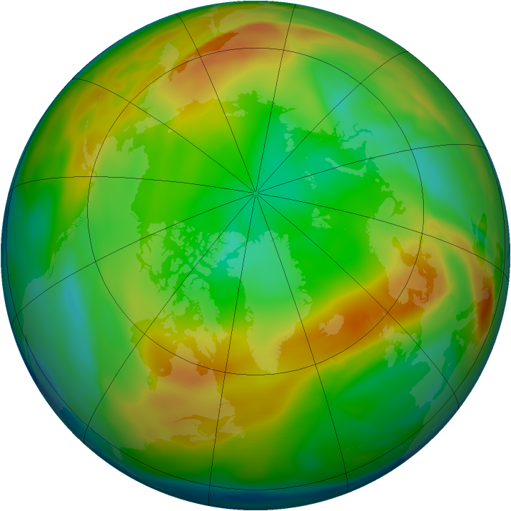 Arctic ozone map for 20 January 2005